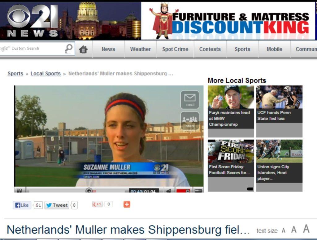 Newsflash: Former UStudy Client Makes American Field Hockey History!